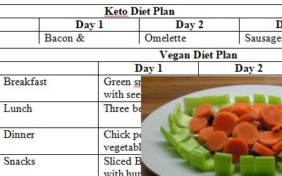 Keto & Vegan 3 Day Diet Plans