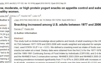 Research On Snacking – What Does It Mean?