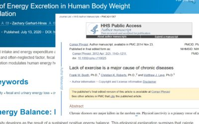 Recent Research – Corona, Calorie Excretion, Exercise & Health